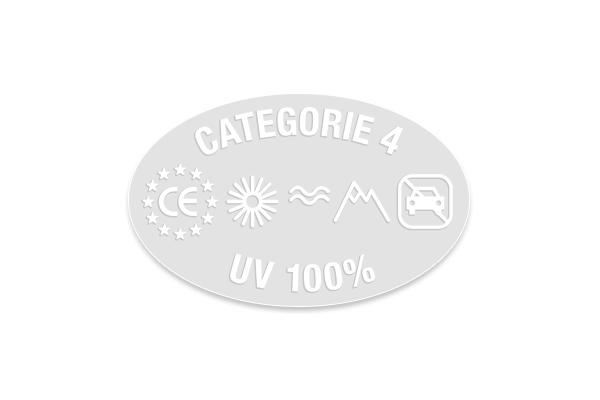 Étiquette électrostatiques ovale solaire Cat .4