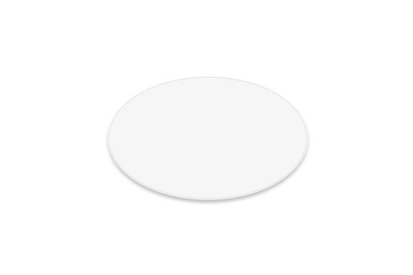 Étiquette électrostatiques ovale