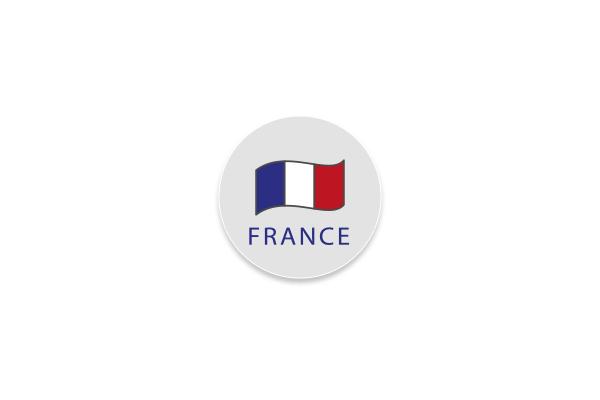 Étiquette électrostatiques ronde France