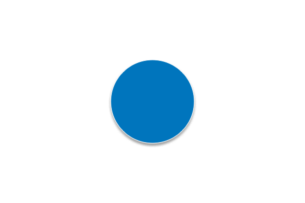 Étiquette électrostatique ronde bleu