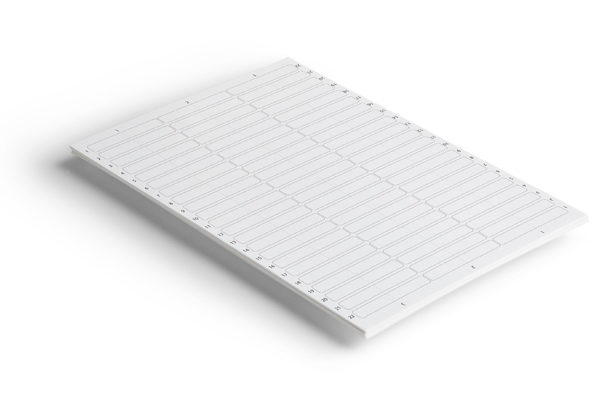 Étiquettes adhésives 65 x 10 Blanc