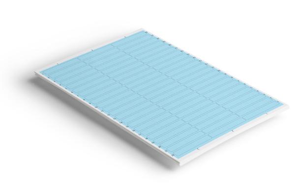 Étiquettes adhésives 65 x 10 Bleu