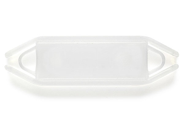 Support rectangulaire à glissière Cristal