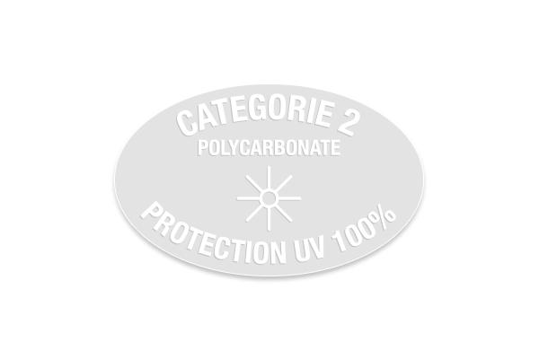 Étiquette électrostatiques ovale solaire Cat .2