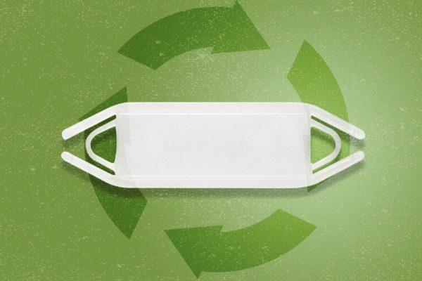 Support rectangulaire à glissière recyclé